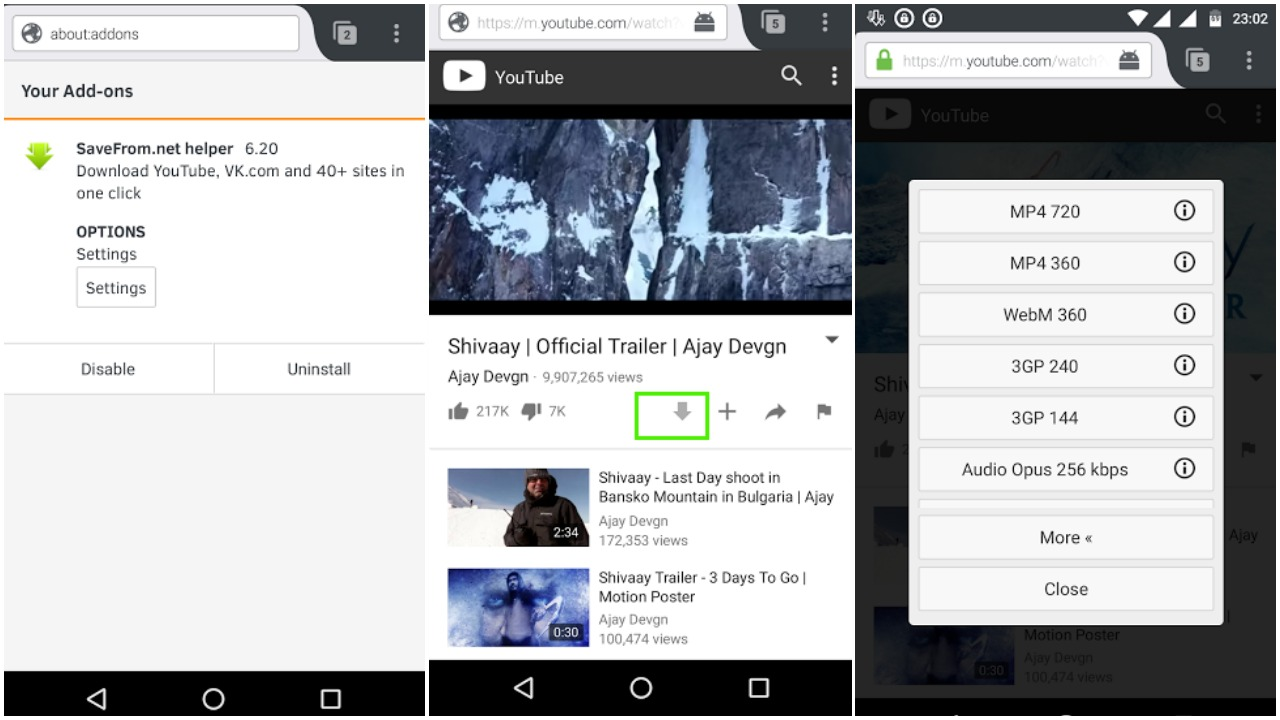 Download audio from youtube to android