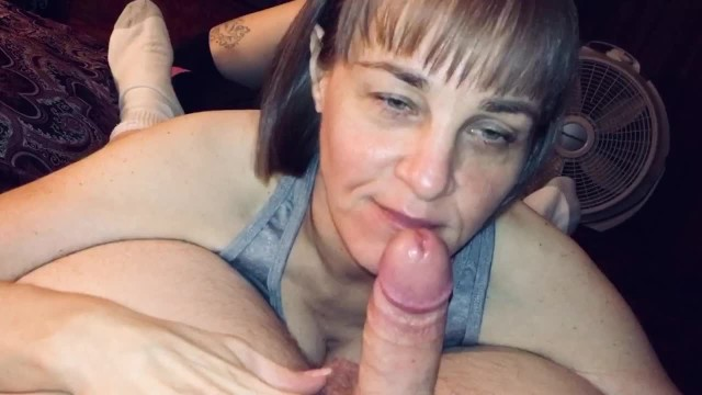 Mature sucking and swallowing