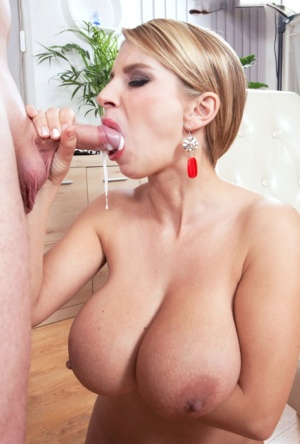 Monster tit matures cum in mouth