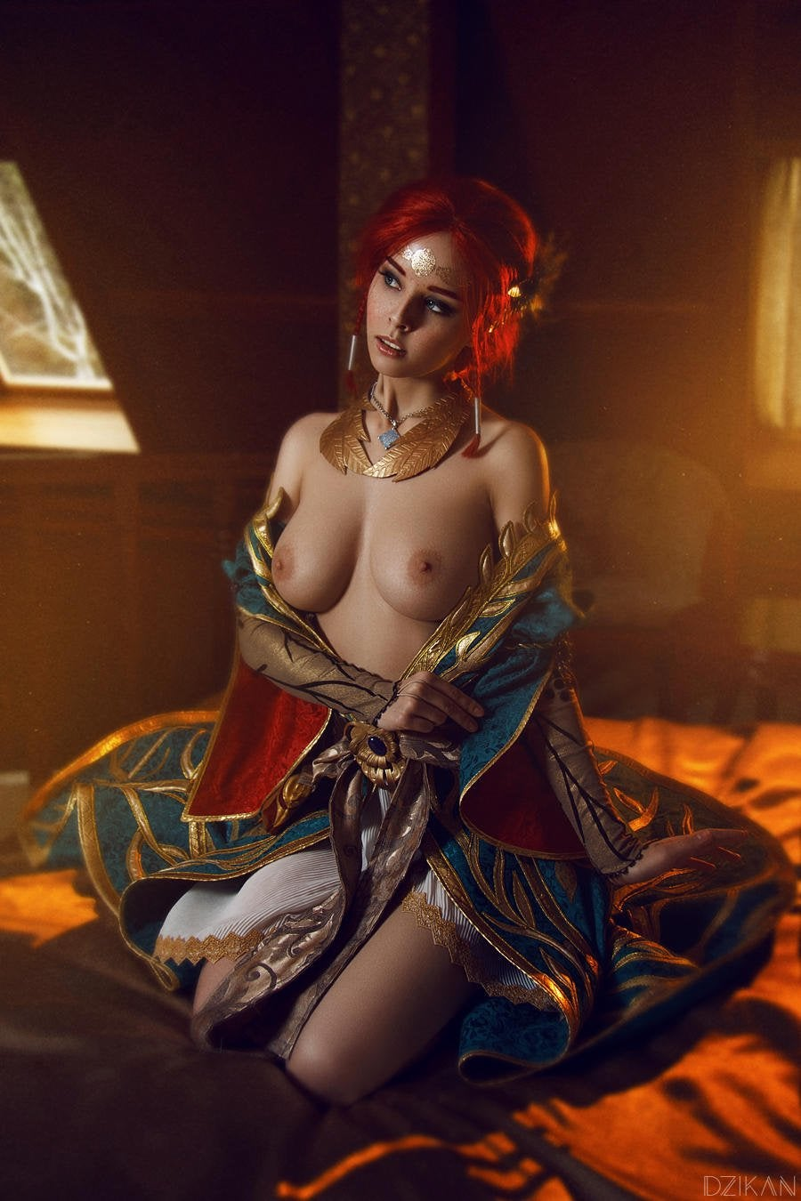Topless cosplay