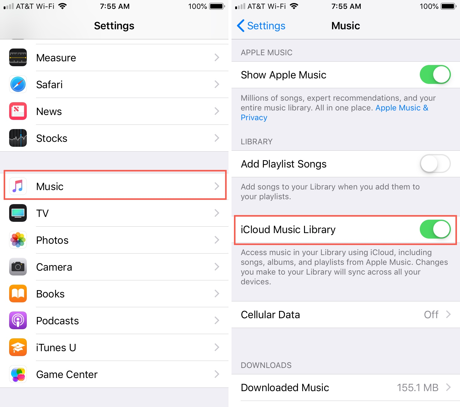 How to sync apple music to new iphone